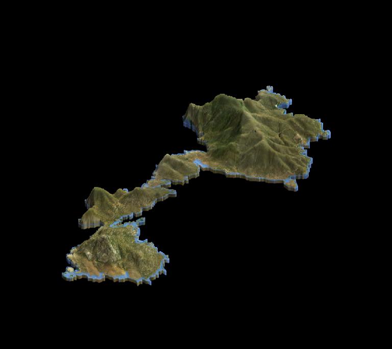 Mappa 3d Isola Asinara