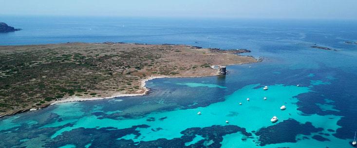 Stretto di Fornelli tra l'Asinara e l'Isola Piana