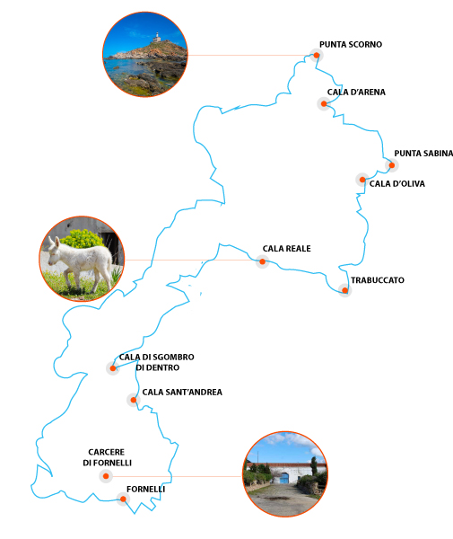 Punti di Interesse mappa Asinara