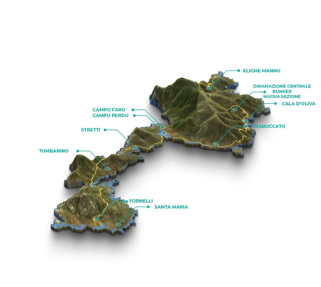 Mappa carceri dell'Isola dell'Asinara